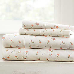 iEnjoy Home Becky Cameron Soft Floral Patterned 4 Piece Sheet Set, Queen, Pink