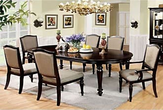 FURNITURE OF AMERICA 247SHOPATHOME IDF-3970T-7PC Dining-Room-Sets Beige