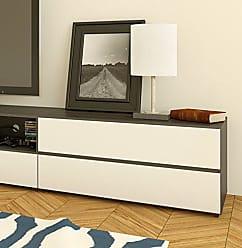 Nexera 220433 Allure 36-inch TV Stand, Ebony and White