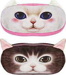 Wrapables Cat Face Zippered Pencil Case (Set of 2), Minx & Snowball