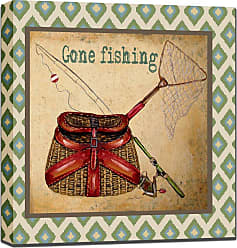 West of the Wind Gone Fishing Outdoor Wall Art - 80415-24 (GONE FISHING)