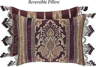 Five Queens Court Albina Boudoir Decorative Throw Pillow, Purple, 21x15