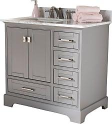 Baxton Studio Amaris 36 in. Single Sink Bathroom Vanity - AMARIS-36-SLATE GREY
