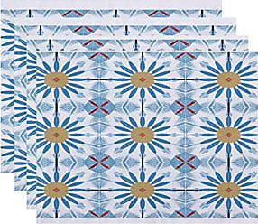 E by Design E by design Chaney Geometric Print Placemat 18 x 14 Green