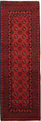 Nain Trading Afghan Akhche Rug 81x28 Runner Rust/Purple (Afghanistan, Wool, Hand-Knotted)