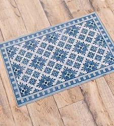 Bungalow Flooring Cleo Waterproof Non-Skid Decorative Floor Cloth Mat, 35 x 59