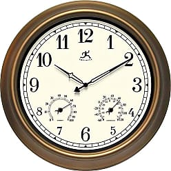 Infinity Instruments The Craftsman 18 in. Outdoor Wall Clocks - 12144CP-1679