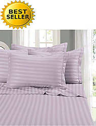 Elegant Comfort 1 Bed Sheet Set on Amazon - Super Silky Soft - 1500 Thread Count Egyptian Quality Luxurious Wrinkle, Fade, Stain Resistant 6-Piece Stripe Bed Sheet Set, King Lilac
