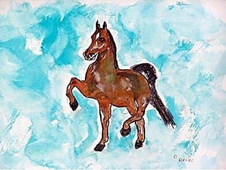 Betsy Drake TP943 Dancing Horse Outdoor Wall Hanging 24 x30