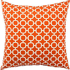 Jaipur Geometric Pattern Orange Polyester Polly Fill Pillow, 13-Inch x 18-Inch, Jaffa Hockley