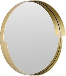 Varaluz Echo 20 Round Mirror in Gold