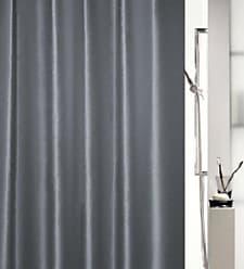 Noir//Rouge 180 x 200 cm Spirella Textil-Duschvorhang Lovejoy Black//Red 180x200 cm Rideau de Douche Tissu
