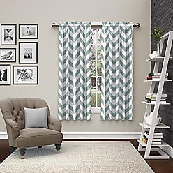 Ellery Homestyles Pairs To Go 15613056X063SPA Dewitt 56-Inch by 63-Inch Window Curtain Pair, Spa