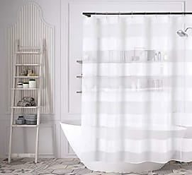 Duck River Textile Bathroom and More Capricia Shower Curtain, 70 W x 72 L, White