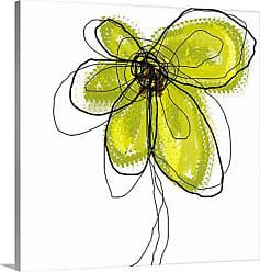 Great Big Canvas Green Liquid Flower One Canvas Wall Art - 1047925_24_16X16_NONE