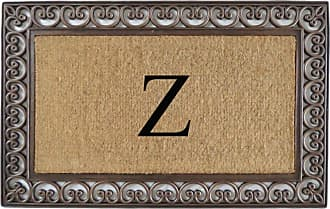 First Impression Classic Paisley Border Monogrammed Double Door Mat - A1HOME200085-A