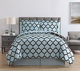VCNY Home VCNY Galaxy 8-Piece Comforter Set, King, Blue/Chocolate