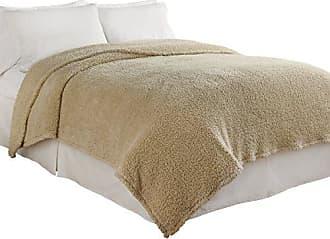 Ellery Homestyles Beautyrest Cosette Ultra Soft Blanket, Twin, Cream