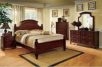 FURNITURE OF AMERICA 24/7 Shop at Home 247SHOPATHOME IDF-7083EK-6PC Bedroom-Furniture-Sets, King, Cherry