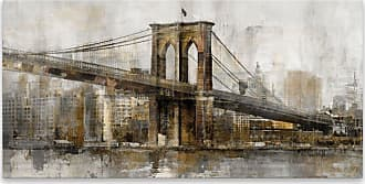 Gallery Direct Bridge in Gold I Printed Aluminum Wall Art - 98086AP000