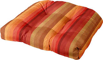 Cushion Source 21 x 19 in. Striped Tufted Sunbrella Chair Cushion Foster Surfside - PXDCT-56049