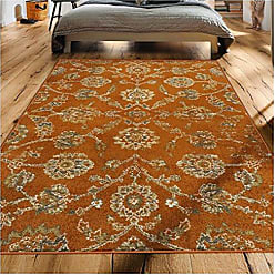 Home City Inc. Superior 6mm Pile Height with Jute Backing, Durable, Fashionable and Easy Maintenance, Brookshire Collection Area Rug, 8 x 10 - Orange