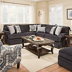 United Furniture Simmons Upholstery Bellamy Slate Sectional - UDF490-1
