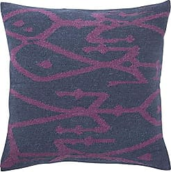 Jaipur Tribal Pattern Blue/Purple Wool and Cotton Poly Filled Pillow (20X20)