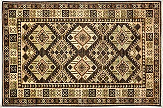 Solo Rugs Ersari Hand Knotted Area Rug 4 2 x 5 10 Brown