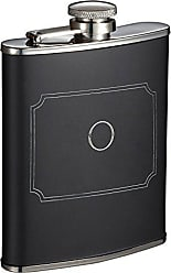 Visol Products Marcel Liquor Flask with Engraved Initial, 6 oz (O)