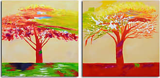Omax Decor OMAX Tree of Sunset Painting on Canvas - 64W x 32H in. - A 2557