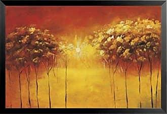 Buyartforless Framed Transcendental Grove I by Hailey Stevens 24x36 Art Print Poster Abstract Painting Sun Trees Orange
