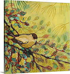 Great Big Canvas Goldfinch Resting Canvas Wall Art - JL0120031_24_16X16_NONE