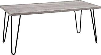 Dorel Home Products Ameriwood Home Owen Retro Coffee Table with Metal Legs, Sonoma Oak Gunmetal Gray