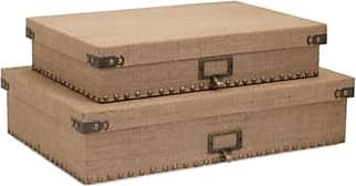 Ashley Furniture Home Accents Document Boxes (Set of 2), Brown