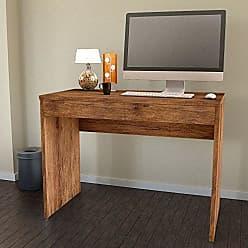 JB Bechara Escrivaninha Mesa Para Computador 6080 Cor Canela