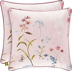 Five Queens Court Blakely Floral 18 Square Throw Pillow, Rose, 18x18