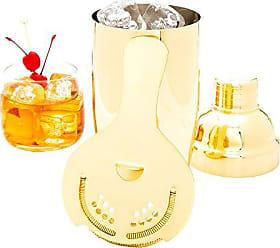 Restaurantware Cocktail Strainer, Hawthorne Strainer, Bar Strainer - Gold Plated - Stainless Steel - Commercial Grade - 1ct Box - Restaurantware