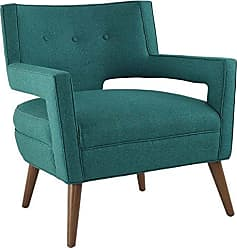 ModWay Modway Sheer Upholstered Fabric Mid-Century Modern Accent Lounge Arm Chair in Teal
