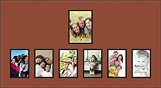 Art to Frames Double-Multimat-1064-766/89-FRBW26079 33 by 18-Inch Picture Frame, 1.25-Inch Wide, Satin Black