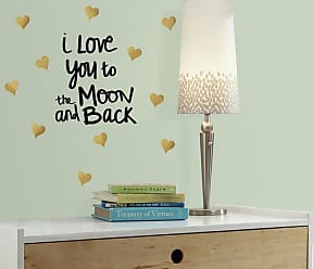 RoomMates Love You To the Moon Quote Peel and Stick Wall Decals - RMK3166SCS