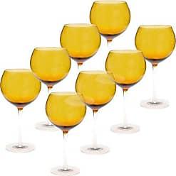 Certified International Red Wine Stemware (Set of 8), 28 oz, Dark Amber
