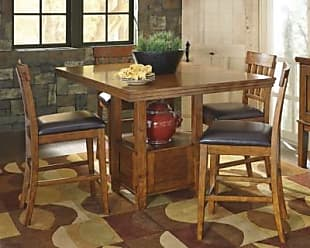 Ashley Furniture Ralene Counter Height Dining Room Extension Table, Medium Brown