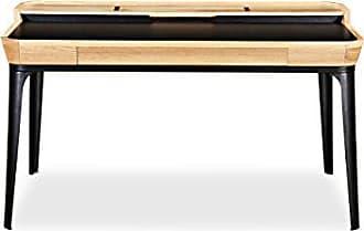 Kardiel DESK-GARBO1-ASH Mid-Century Modern Garbo Desk, Ash/Black