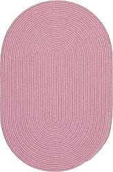 Rhody Rug Fun Braids Solid Pink 10X13 Oval