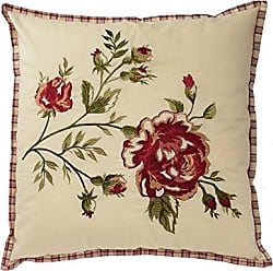 Ellery Homestyles Waverly 14771020X020TSN Norfolk 20-Inch by 20-Inch Embroidered Decorative Pillow, Tea Stain