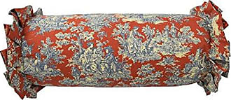 Ellery Homestyles Waverly 14924007X022HTB Sanctuary Rose 7-Inch by 22-Inch Neckroll Decorative Pillow, Heritage Blue