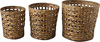 Creative Co-op Round Woven Bamboo Bushel Baskets (Set of 3 Sizes)