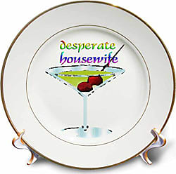 3D Rose cp_4346_1 Desperate Housewife Porcelain Plate, 8-Inch