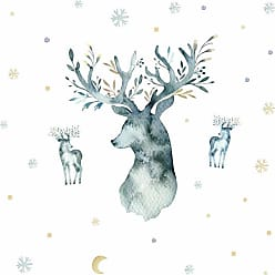 RoomMates Watercolor Winter Deer Giant Peel And Stick Wall Decals - RMK3928GM